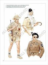 PLANCHE UNIFORMS PRINT First Indochina War Guerre d'Indochine Viêt Nam Vietnam