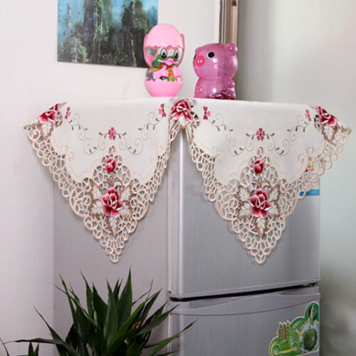 """Square Embroidered Lace Tablecloth Floral Table Cloth Cover Topper Wedding 33/"""""""