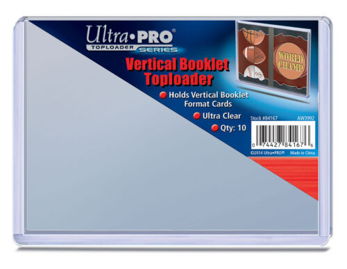 10 Ultra Pro Booklet Card Toploaders Vertical Book Card Topload Holders