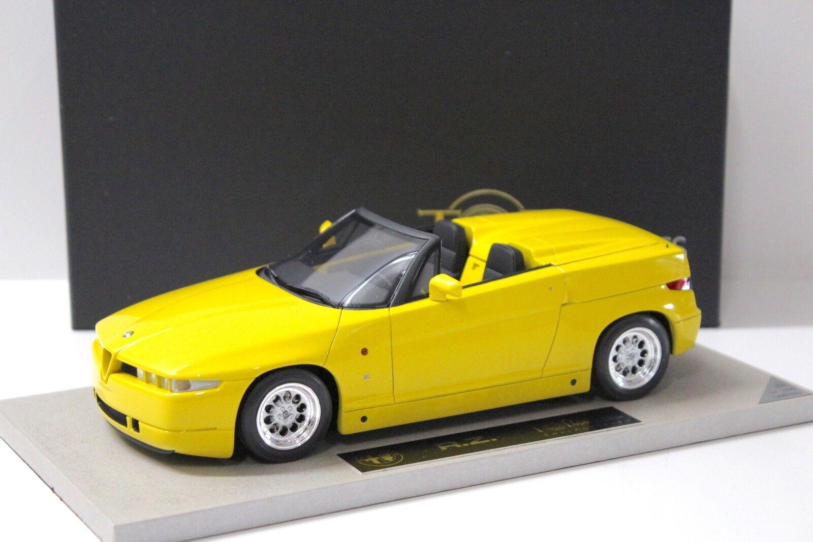 1 18 BBR top marques Alfa Romeo RZ Zagato Yellow New en Premium-modelcars