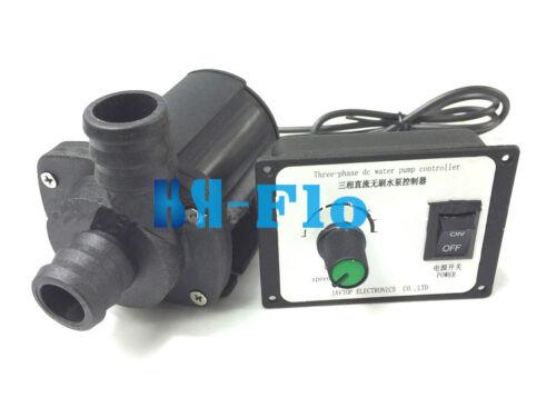 HSH-Flo 12V//24VDC Adjustable Socket Water Booster Pump 2200L//3000LPH Amphibious
