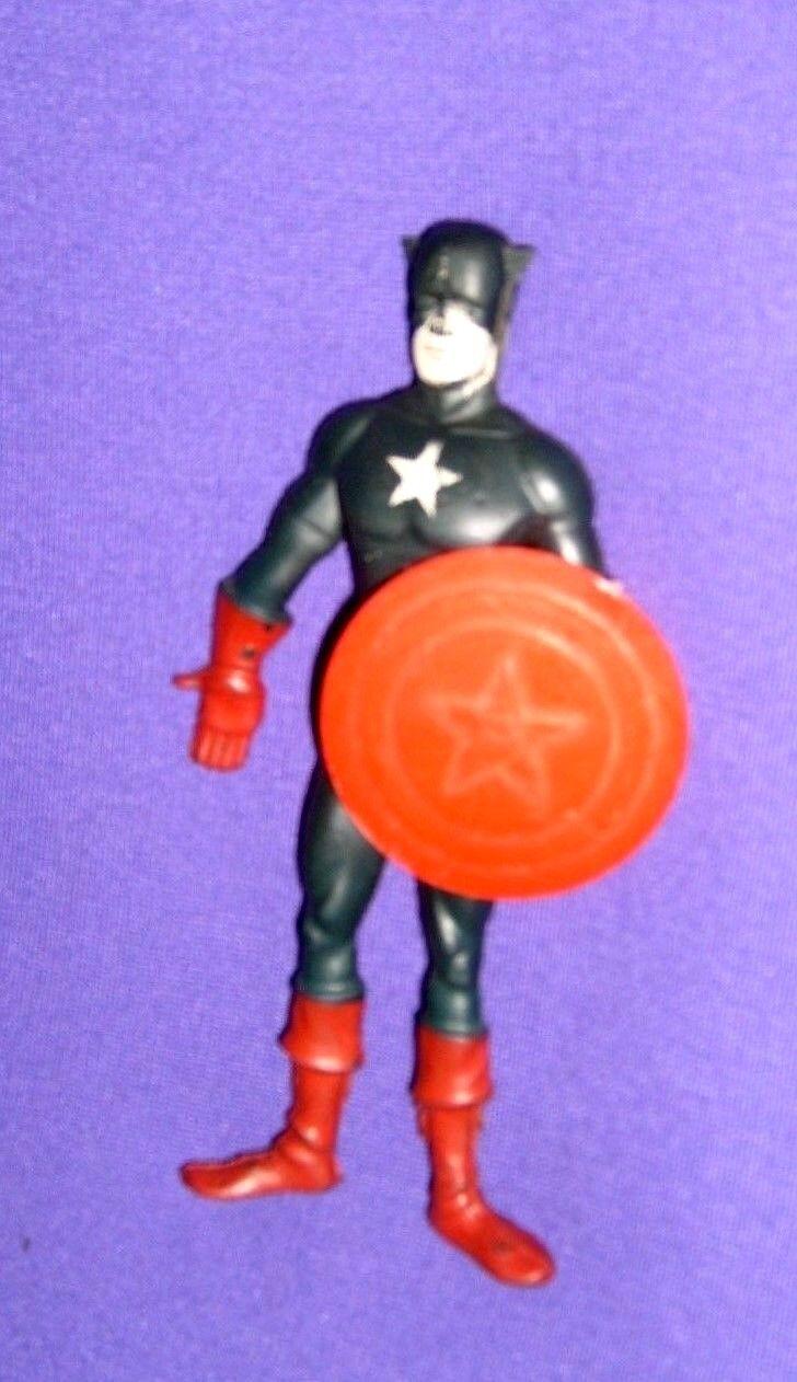Vintage 6 inch Captain America Super Flex Figure with Shield (1966, Lakeside)