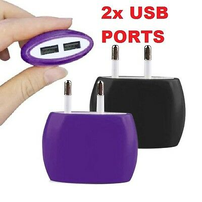 2A Dual USB Ports Home Wall Travel AC Power Charger Adapter GALAXY IPHONE HUAWEI