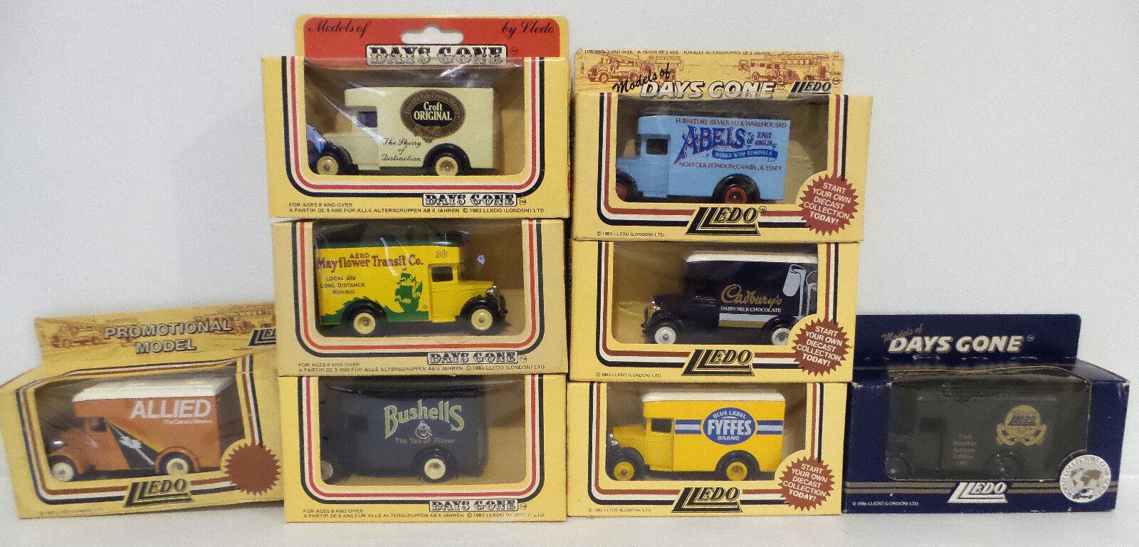 Véhicules  DIE CAST Set de 8 1934 Dennis Delivery Vans MADE BY LLEDO (dt) 162