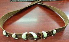 Australian made Crocodile print  leather hat band 6  teeth Dundee exotic cool