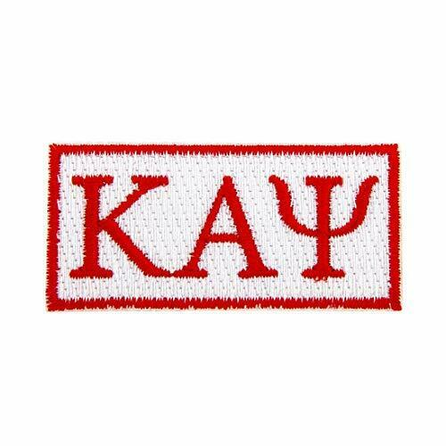 Rectangle Letter Patch Kappa Alpha Psi Embroidered Sew or Iron YoNupe