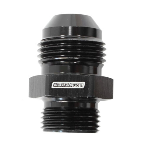 """3//8/"""" BSPP BSP to 06 AN JIC Straight Male Flare Hose Fitting Adapter Union Black"""