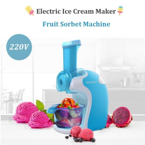 220V Electric Fruit Ice Cream Maker Machine Frozen Yogurt Household Sorbet Maker Blue,Pink