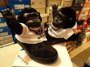 outlet store 775f6 982bd Image is loading NEW-Adidas-Originals-x-Jeremy-Scott-Gorilla-JS-