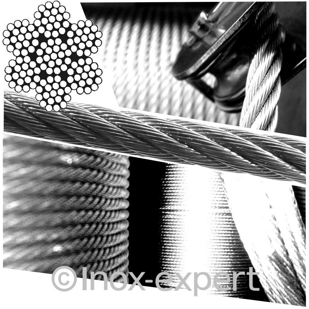 3 mm 7X19 Drahtseil Edelstahl A4 Rostfrei Sehr Flexibel Stahlseil Stahlseil Flexibel Niro V4A Seil 44ac9d