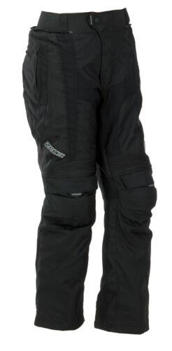 SPADA DUO-TECH TEXTILE WATERPROOF MOTORCYCLE TROUSERS SHORT/STD LEG BLACK