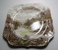 Olde English Countryside Square Salad Plate - Johnson Bros. - Made in England