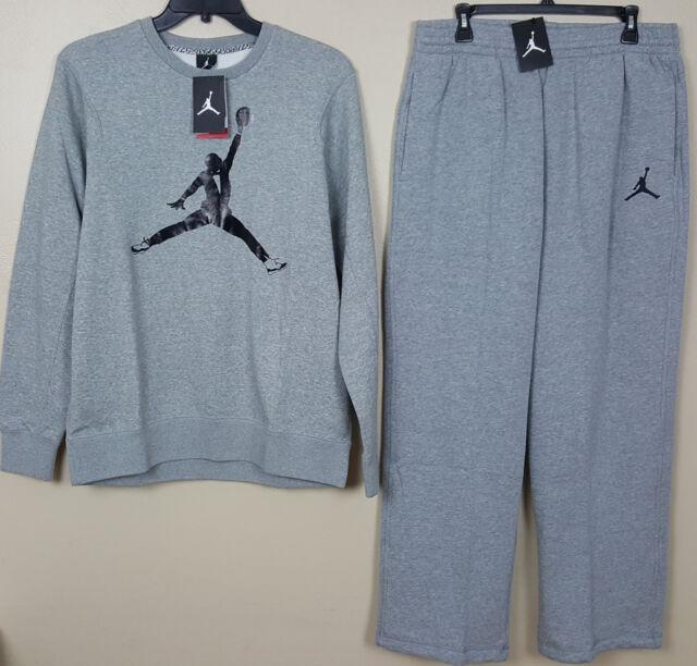 968bd0eb8baa14 Nike Air Jordan XI Concord Sweatsuit Sweatshirt Pants Grey Black (size Xl)