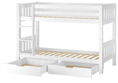 bettkasten 60.06-09ws2 Superposé pin bois massif blanc 90x200cm superposés