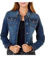 Earl Jean Jacket Size Xlarge Bling Rhinestone Denim Cute