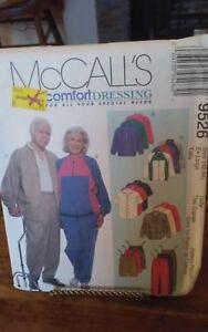 Oop-Mccalls-9526-easy-comfort-special-needs-unisex-jacket-pants-sz-42-44-xl-NEW