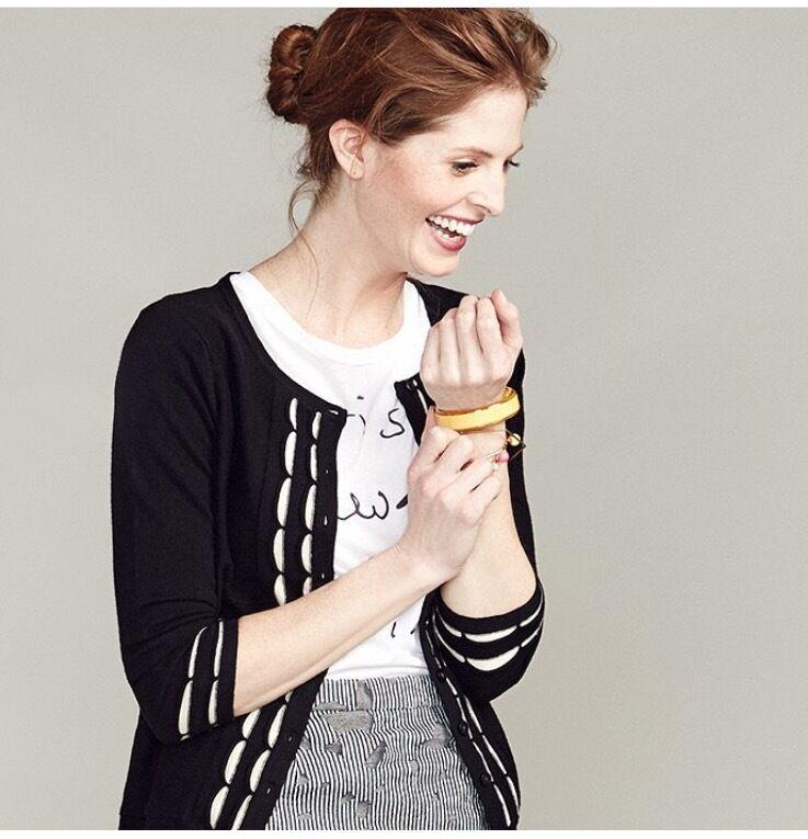 NEW M Anthropologie Scalloped Stripe Cardigan by Sparrow Elegant & Versatile