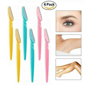 6X-Womens-Eyebrow-Razor-Trimmer-Blade-Shaper-Shaver-Face-Lip-Hair-Remover-Set-UK