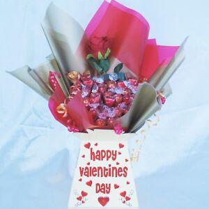 Valentines Lindt Lindor Sweet Bouquet Chocolate Bouquet Hamper