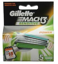 5er Gillette Mach 3 Sensitive Power Klingen Sensitve OVP Set Pack Gilette