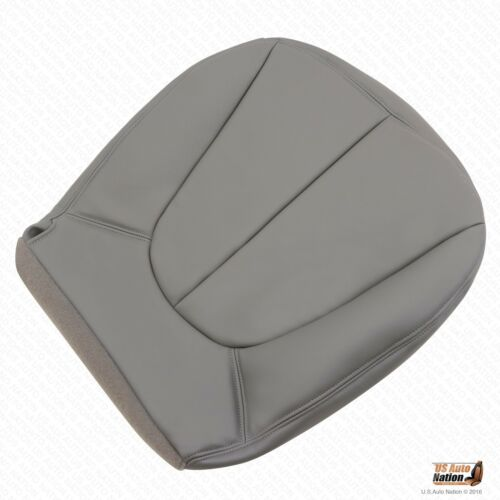 01 02 Ford Expedition XLT Passenger Bottom Leather Seat Cover GRAY