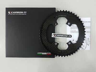 50T//52T//53T Carbon-Ti X-CarboRing BCD110 x 4 Bolts DA9100 Bicycle Chainring