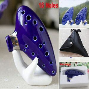 16 Hole Double-barrelle of Time Legend of Zelda Inspired Ceramic Ocarina/Stand U