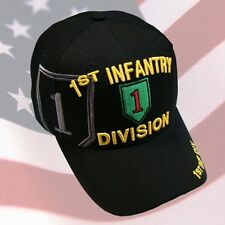 f4cf9847d18bd item 4 US ARMY 1st Infantry Division Ball Cap Vietnam Gulf OEF OIF Veteran  Vet Hat BLK -US ARMY 1st Infantry Division Ball Cap Vietnam Gulf OEF OIF  Veteran ...
