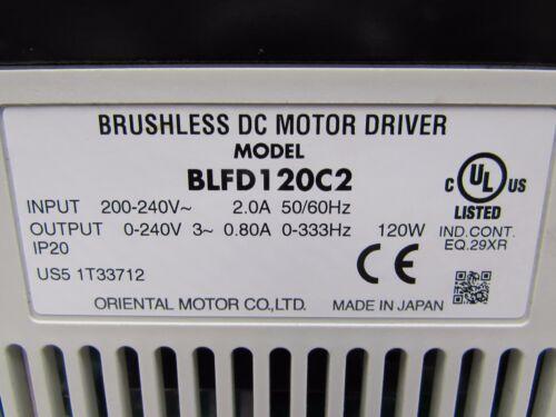VEXTA BLFD120C2 BRUSHLESS DC MOTOR DRIVER  1-PH   XCLNT MAKE OFFER! TAKEOUT