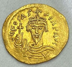 Ancient-byzantine-Piece-d-039-or-de-Phocas-SOLIDUS-602-610-A-D-Choix-Coin