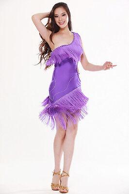 Belly Dance Costume Latin salsa tango Cha Cha Ballroom Flamenco dress 8 colors