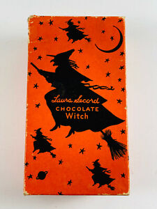 Vintage-Laura-Secord-Halloween-Chocolate-Witch-Candy-Box-NICE
