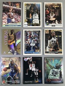 Shaquille O'Neal Card Lot w/ 1992-93 Topps #362 Shaq Rookie, Stadium Club #1 RC