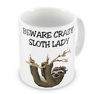 Beware-Crazy-Sloth-Lady-Novelty-Gift-Mug