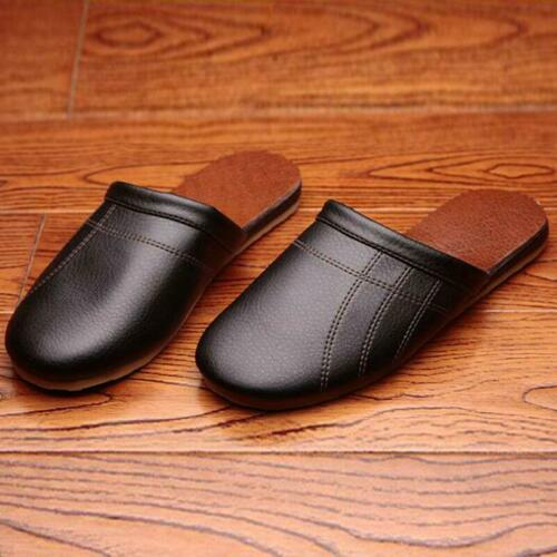 Homme Chaussons en cuir synthétique Home Chaussures Indoor Chaussures Confortable Chaussons Mocassins