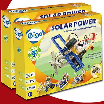 GIGO SOLAR POWER 7349 Solar Enegry Block Toy 177pcs Scientific teaching aid Lego