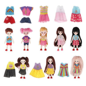 Clothes-And-Accessories-For-Dolls-8-Pcs-Skirt-Dress-Outfits-Shoes
