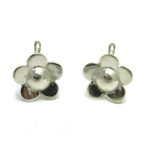 925 Silber Ohrringe Blume E000526