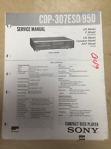 sony service manual for the cdp 307esd cdp 950 cd player repair mp rh ebay co uk cd player repairs mansfield notts pioneer cd player repair manual