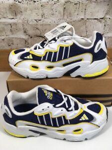 vintage degli anni novanta adidas torsione ozweego 3 uk 9 eu43 scarpe da corsa og
