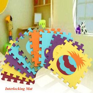 6758debce9d 9PCS Cartoon EVA Foam Soft Puzzle Mat Children Baby Playmats ...