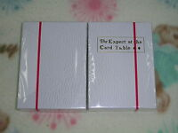 1 decks The Expert at the Card Table  playing cards white SWE