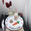 Piatto-di-Natale-e-bottiglia-di-latte-Decalcomanie-Personalizzata-Babbo-Natale-biscotti-PIASTRA miniatura 1