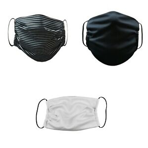Face-Mask-Washable-Reusable-Adult-Unisex-3-Pack-Gray-Black-White-Made-in-USA