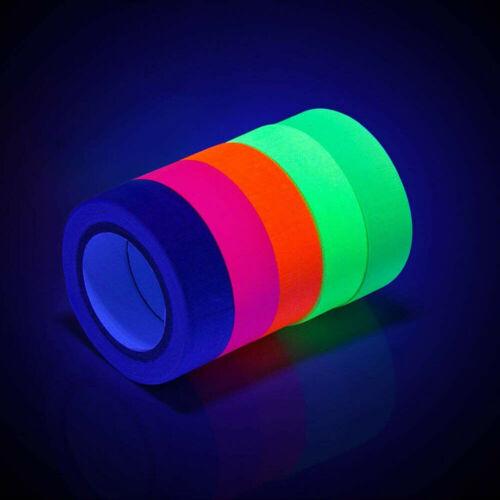 6 Farben UV Leucht folie nachleuchtend neon fluoreszierend Leuchtband Klebe band