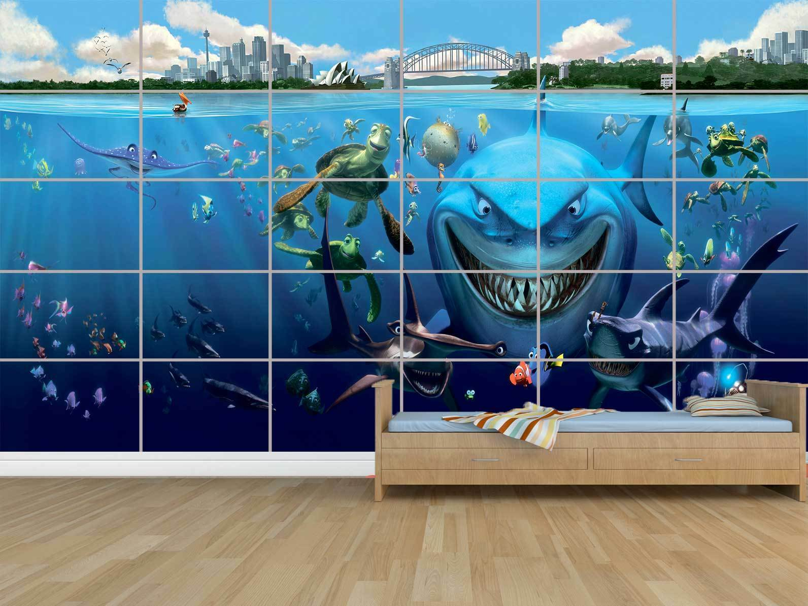 Nemo Todos los Characters Gigante Cartel Poster Habitación Niños