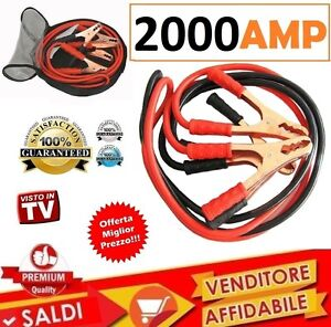 CAVI-BATTERIE-CAVETTI-BATTERIE-PER-AUTO-COPPIA-CAVI-BATTERIE-AUTO-2000-AMP