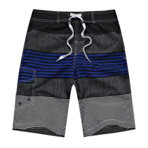 Men/'s Quick Dry Casual Stripe Casual Sport Swim Trunk Beach Shorts With Pockets