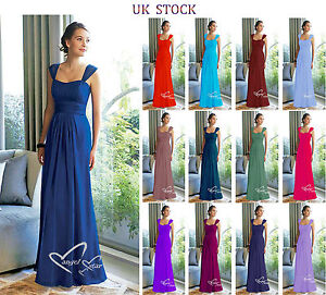 b03afcfad2f Image is loading New-Design-Straps-Ruched-Long-Chiffon-bridesmaid-Evening-