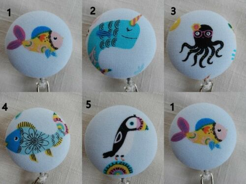 Things of and Around the Sea ~ Badge Reel~Retractable ID//Name Badge Holder